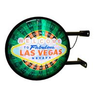 fiftiesstore Welcome To Fabulous Las Vegas Dubbelzijdige LED Lamp - Uithangbord