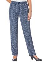 Your look for less! Broek, marine/millefleurs