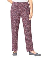 Your look for less! Broek, bordeaux gedessineerd