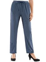 Your look for less! Jersey pantalon, marine gebloemd
