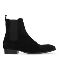 Sacha Zwarte suède chelsea boots  - zwart