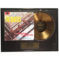 fiftiesstore The Beatles - Please Please Me 24 karaats Gouden Plaat (LP)