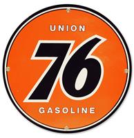 fiftiesstore Union 76 Rond Emaille Bord 30 cm