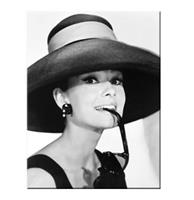 fiftiesstore Audrey Hepburn With Hat Magneet