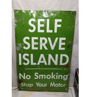fiftiesstore Self Serve Island Straat Bord