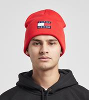 Tommy Jeans Badge Logo Beanie, Rood