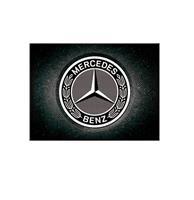 fiftiesstore Magneet Mercedes-Benz - Logo Zwart