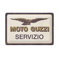 fiftiesstore Tinnen Bord 20 x 30 Moto Guzzi - Servizio