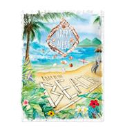fiftiesstore Tinnen Bord 30 x 40 Happiness is a day at the beach
