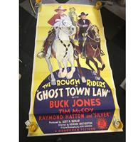 fiftiesstore Ghost Town Law Film Poster - Met Buck Jones And Tim McCoy - 1942 - Origineel - 1,97 x 1,02 cm