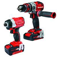 einhell 4257216 Power Tool Kit 18V Li-Ion accu Klopboormachine + Slagschroefmachine - Koolborstelloos