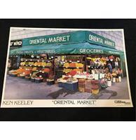 fiftiesstore Ken Keeley Oriental Market Poster - 1987 - 60 x 80 cm