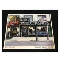 fiftiesstore Ken Keeley Poster Paddy's Clam House - 1985
