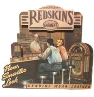 fiftiesstore Redskinds Garment Genuine Wear Leather Kartonnen Winkel Display