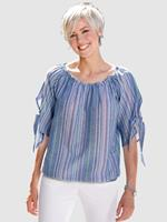 Dress In Blouse  blauw gestreept