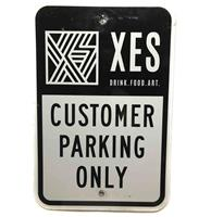 fiftiesstore XES Customer Parking Only Metalen Straatbord - Origineel