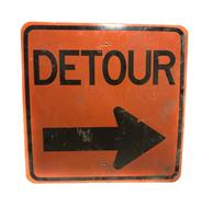 fiftiesstore Original Detour Sign 61 x 61 cm