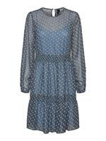 Vero Moda Dotted Long Sleeved Dress Dames Blauw
