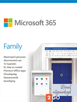Microsoft 365 Family - 6 Users - 1 Year Subscription