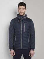 Tom Tailor Hybrid Fleece Jas, Herenky Captain Blue