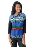 Betty barclay Shirt  Donkerblauw::Groen