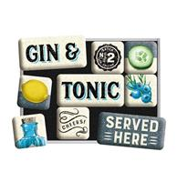 fiftiesstore Magneet Set Gin & Tonic Served Here
