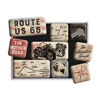 fiftiesstore Magneet Set Route 66 Bike Map
