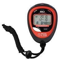 TIS stopwatch Pro 80 lap 8 x 6 cm rood 2 delig