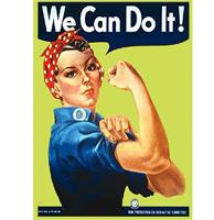 fiftiesstore We Can Do It Magneet - Geel/Groenig