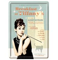 fiftiesstore Breakfast At Tiffany's Metalen Postkaart