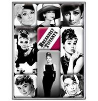 fiftiesstore Magneet Set Audrey Hepburn Breakfast At Tiffany's
