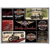 fiftiesstore Magneet Set Harley-Davidson Bikes