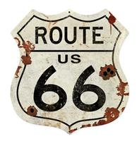fiftiesstore Route US 66 Shield Vintage Zwaar Metalen Bord