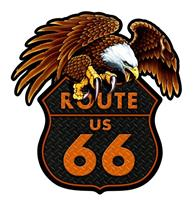 fiftiesstore Route 66 Eagle Zwaar Metalen Bord