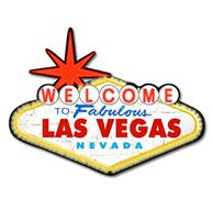 fiftiesstore Welcome To Fabulous Las Vegas Nevada Zwaar Metalen Bord - 44 x 32 cm