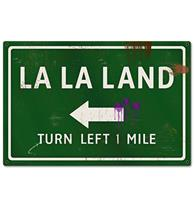 fiftiesstore La La Land Turn Left 1 Mile Retro Zwaar Metalen Bord 60 x 40 cm
