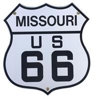 fiftiesstore Route 66 Missouri Emaille Bord