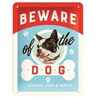 fiftiesstore Beware Of The Dog Embossed Metal Sign - 15 x 20 cm