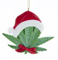 fiftiesstore Cannabis Blad Kerst Ornament