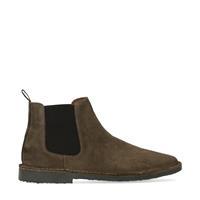 Sacha Khaki suède chelsea boots  - groen