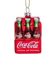 fiftiesstore Coca-Cola 6-Pack Flesjes Kerst Ornament