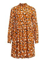 Vila Patterned Long Sleeved Dress Dames Oranje