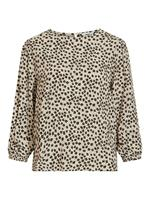 OBJECT COLLECTORS ITEM Floral 3/4 Sleeved Top Dames Beige