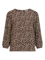 OBJECT COLLECTORS ITEM Floral 3/4 Sleeved Top Dames Bruin