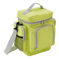 XD Collection koeltas deluxe 7 liter polyester lime/grijs