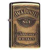 fiftiesstore Zippo Aansteker Jack Daniel's Label Brass