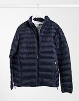 Polo Ralph Lauren - Gewatteerd jack van gerecycled nylon met logo in marineblauw