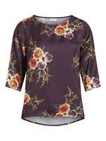 Vila Round Neck 3/4 Sleeved Top Dames Rood
