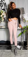 cosmodacollection Sexy sporty broek met tailleband roze