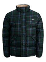 Jack & jones Fleece Kraag Gewatteerde Jas Heren Green